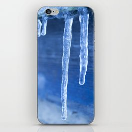 Blue Icicles  iPhone Skin
