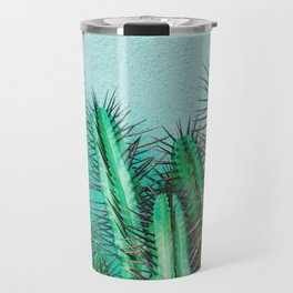 A prickly cactus on concrete Travel Mug