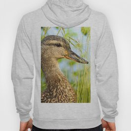 Wild Duck Portrait Nature Background #decor #society6 #buyart Hoody