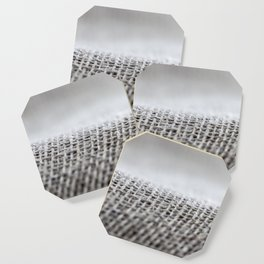 Flax background surface Coaster