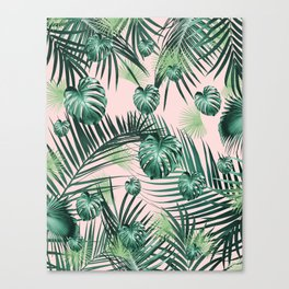 Tropical Jungle Leaves Garden #2 #tropical #decor #art #society6 Canvas Print