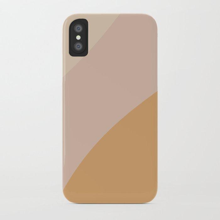 Warm Neutral Color Block iPhone Case