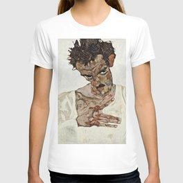 Egon Schiele - Self Portrait With Lowered Head T-shirt