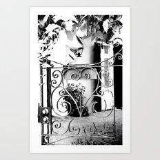 through this gate... Art Print