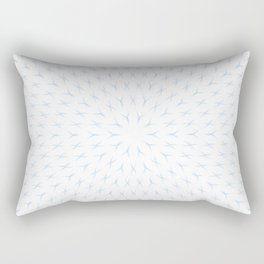 PCT2 Fractal in Ice Blue on White Rectangular Pillow
