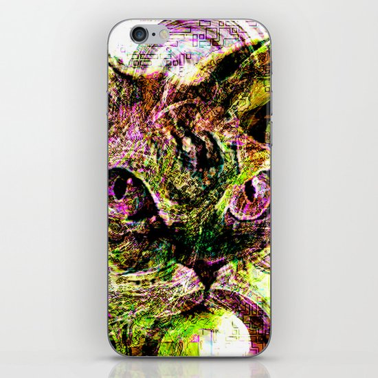 digital cat iPhone & iPod Skin