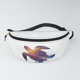 Watercolor Space Turtle Fanny Pack