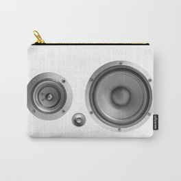 Subwoofer Speaker on white Carry-All Pouch
