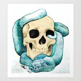 Snake & Skull Art Print
