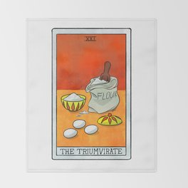 The Triumvirate | Baker's Tarot Throw Blanket