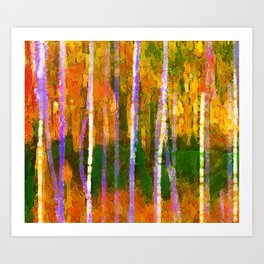 Colorful Forest Abstract | Triptych Part 1 Art Print
