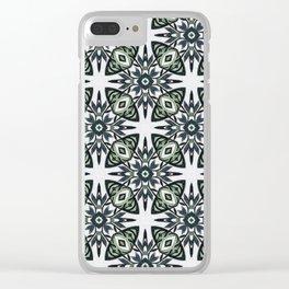 Sage tile Clear iPhone Case