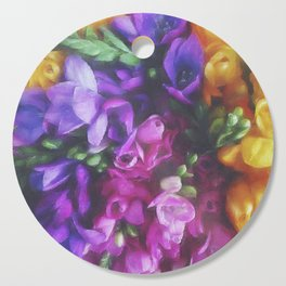 Freesias Cutting Board