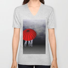 umbrella time -22- Unisex V-Neck