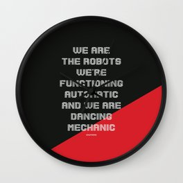We are the Robots Wall Clock