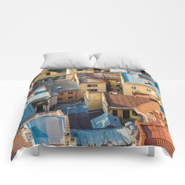 Colors of city Comforters