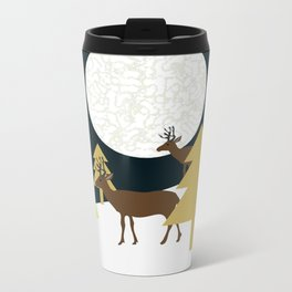 Deer on a hill Metal Travel Mug