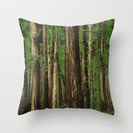 Sitting in the Forest Throw Pillow