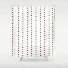 Holiday Hexies Multi Stripe Shower Curtain