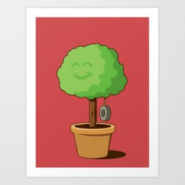 Playful plant Art Print