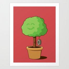 Playful plant Art Print