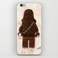 chewbacca iPhone & iPod Skins featuring Lego Chewbacca by Toys 'R' Art