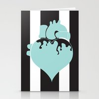 pastel goth Stationery Cards featuring Pastel Goth Heart by Minette Wasserman