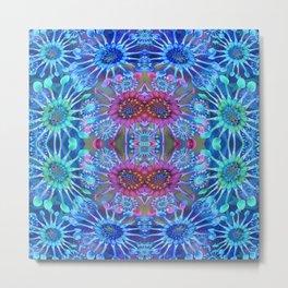 Passionflower Fractal Floral Metal Print