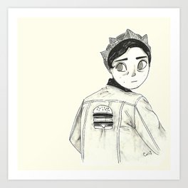 Riverdale's Jughead - Burguer King - Cole Sprouse inspired Art Print