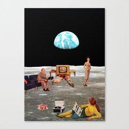 U.S. Lands on Moon Canvas Print