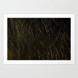 Rain on a Window Art Print