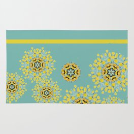 bee's flower down Rug