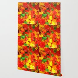red orange yellow colorful gummy bear Wallpaper