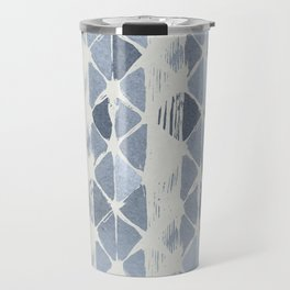 Simply Braided Chevron Indigo Blue on Lunar Gray Travel Mug