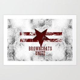 BrownCoats Art Print