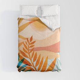 Golden Greek Garden / Sunset Landscape Comforters