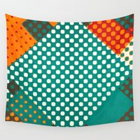 dots Wall Tapestries featuring Dots by SensualPatterns