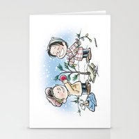 charlie brown Stationery Cards featuring A Supernatural Charlie Brown Christmas by maichan