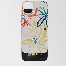 Gestural Blooms iPhone Card Case