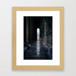 Paris Columns Framed Art Print