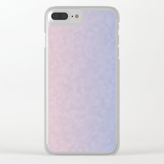 Rose Quartz and Serenity Mosaic Crystals Clear iPhone Case
