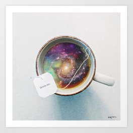 Drifting with the Universe Art Print