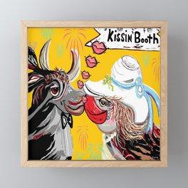 Cow Kiss Framed Mini Art Print