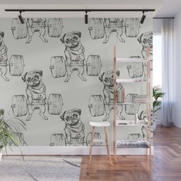 Pug Lift Wall Mural