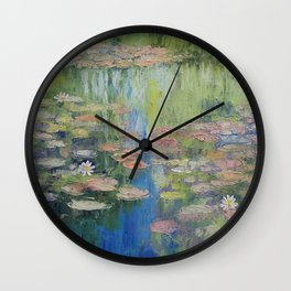 Water Lily Pond Wall Clock