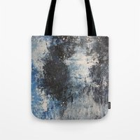 the strokes Tote Bags featuring Strokes by Hasan Nisar Basra