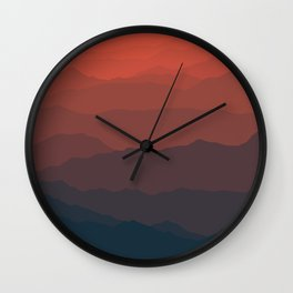 Ombré Range No. 2 Wall Clock