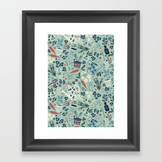 Herb Garden Framed Art Print