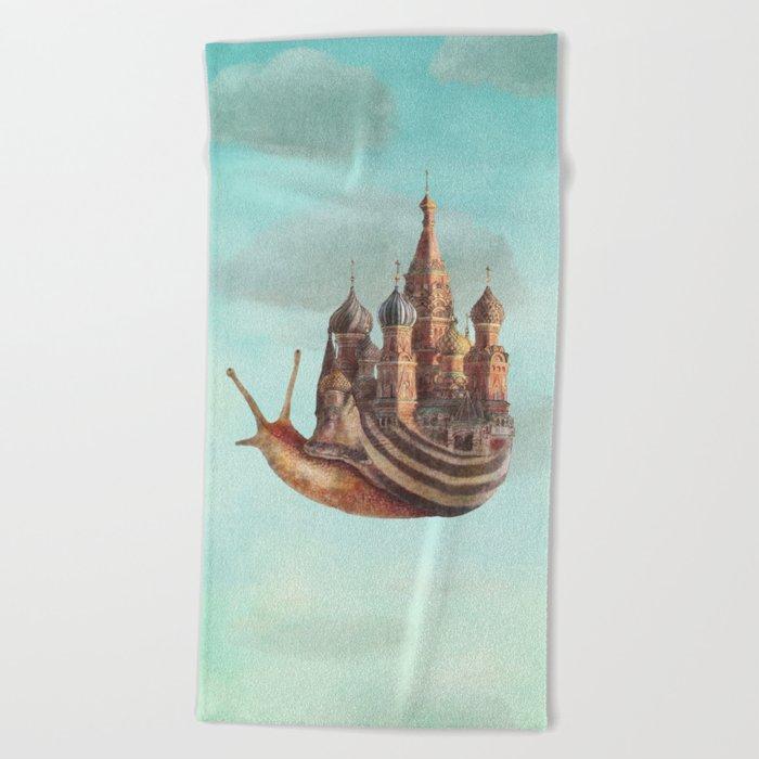 The Snail's Daydream Beach Towel