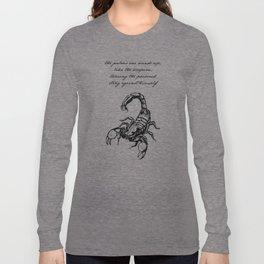 Friedrich Nietzsche - The Scorpion Long Sleeve T-shirt